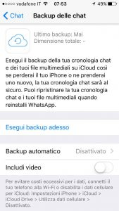 backup whatsapp iphone